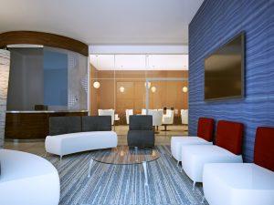 commercial carpet modern setting