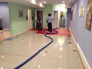 flooded floor
